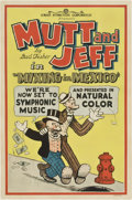 "Movie Posters:Animated, Mutt and Jeff in ""Mixing in Mexico"" (Screen Attractions Corp.,R-1930). One Sheet (27"" X 41"")...."