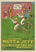 """Movie Posters:Animated, Mutt and Jeff in """"Oil's Well That Ends Well"""" (Fox, 1919). One Sheet (27"""" X 41"""")...."""