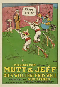 "Mutt and Jeff in ""Oil's Well That Ends Well"" (Fox, 1919). One Sheet (27"" X 41"")"