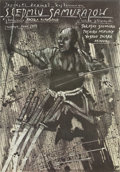 "Movie Posters:Action, The Seven Samurai (Toho, R-1987). Polish One Sheet (26.5"" X38"")...."