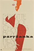 "Movie Posters:Comedy, La Parisienne (United Artists, 1958). Polish One Sheet (23.5"" X 33"")...."