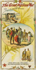 "Movie Posters:Documentary, The Great Mexican War (El Paso Feature Film, 1914). Three Sheet(41"" X 81"")...."