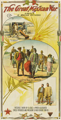 "The Great Mexican War (El Paso Feature Film, 1914). Three Sheet (41"" X 81"")"