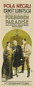 "Movie Posters:Comedy, Forbidden Paradise (Paramount, 1924). Insert (14"" X 36"")...."