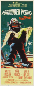 "Movie Posters:Science Fiction, Forbidden Planet (MGM, 1956). Insert (14"" X 36"")...."