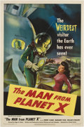 "Movie Posters:Science Fiction, The Man from Planet X (United Artists, 1951). One Sheet (27"" X41"")...."