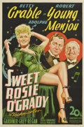 "Movie Posters:Musical, Sweet Rosie O'Grady (20th Century Fox, 1943). One Sheet (27"" X 41"")...."