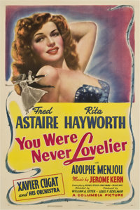 "You Were Never Lovelier (Columbia, 1942). One Sheet (27"" X 41"") Style B"