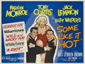 "Movie Posters:Comedy, Some Like It Hot (United Artists, 1959). British Quad (30"" X40"").... (Total: 2 Items)"