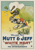 "Movie Posters:Animated, Mutt and Jeff in ""White Meat"" (Fox, 1921). One Sheet (27"" X41"")...."