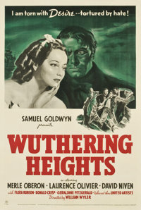 """Wuthering Heights (United Artists, 1939). One Sheet (27"""" X 41"""")"""
