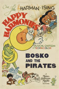 "Movie Posters:Animated, Bosko and the Pirates (MGM, 1937). One Sheet (27"" X 41"")...."