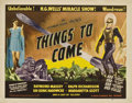"Movie Posters:Science Fiction, Things to Come (United Artists, R-1947). Half Sheet (22"" X 28"")...."