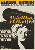 "Movie Posters:Drama, Shanghai Express (Paramount, 1932). Swedish One Sheet (27.5"" X39.5"")...."