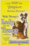 "Movie Posters:Animated, Lady and the Tramp (Buena Vista, 1955). One Sheet (27"" X 41"")...."