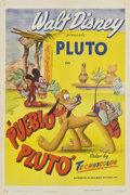"Movie Posters:Animated, Pueblo Pluto (RKO, 1949). One Sheet (27"" X 41"")...."