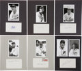 Autographs:Photos, Chicago Cubs Stars Signed Index Cards Lot of 32....