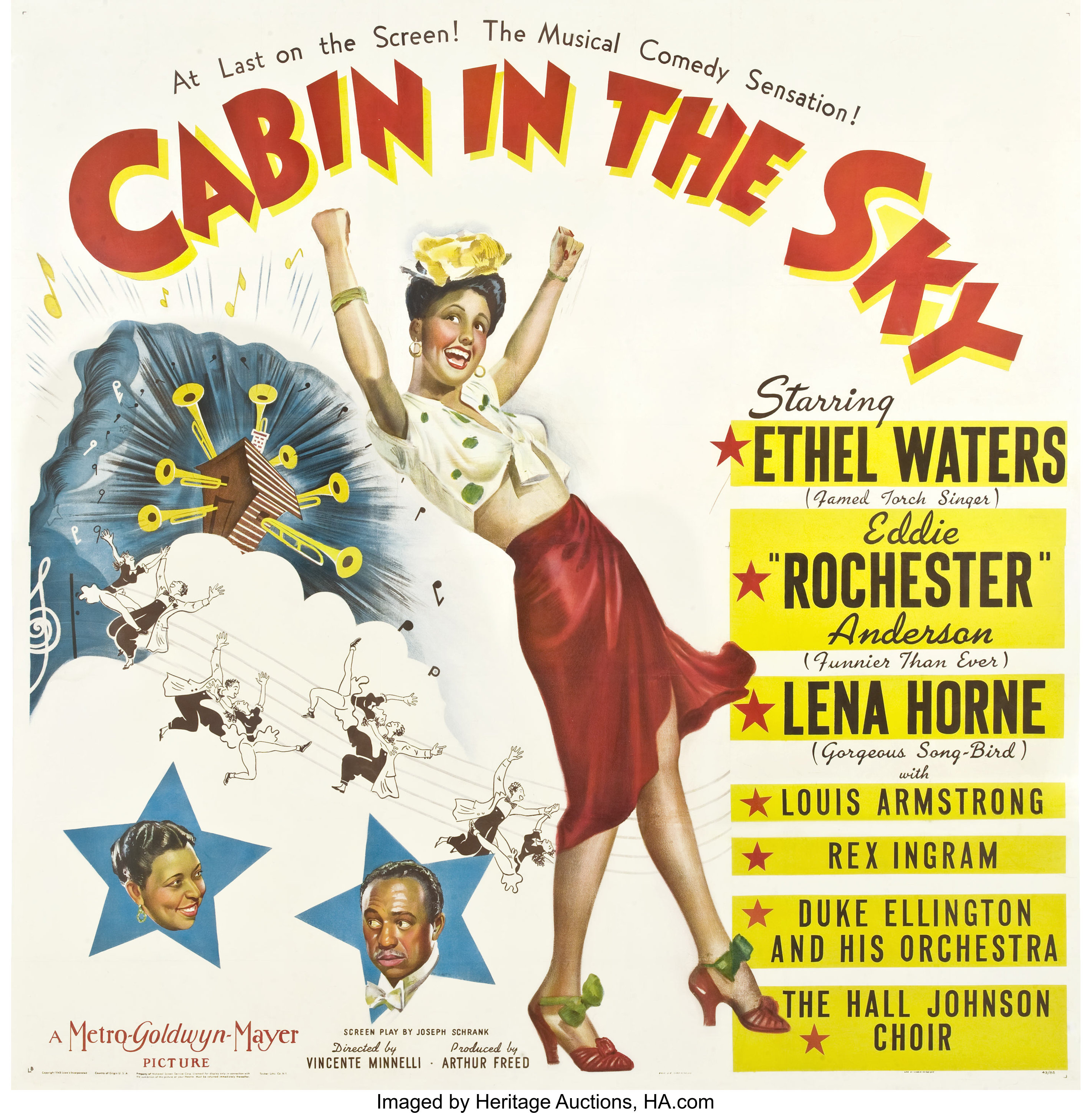 """Cabin in the Sky (MGM, 1943). Six Sheet (81"""" X 81"""").... Movie 