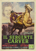 "Movie Posters:Western, The Texas Rangers (Columbia, 1952). Italian 4 - Folio (55"" X78"")...."