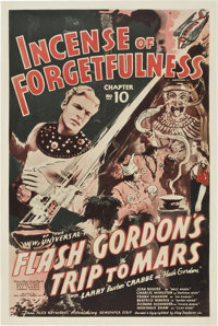 "Flash Gordon's Trip to Mars (Universal, 1938). One Sheet (27"" X 41"") Chapter 10 -- ""Incense of Forgetfuln..."