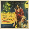 "Movie Posters:Film Noir, Scarlet Street (Universal, 1945). Six Sheet (81"" X 81"")...."