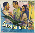 "Movie Posters:Adventure, The Savage Girl (Monarch, 1932). Six Sheet (81"" X 81"")...."