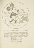 Movie Posters:Animated, Disney Press Book (United Artists, 1935). Pressbook (19 Pages)....