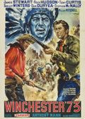 "Movie Posters:Western, Winchester '73 (Universal International, R-Late1950s). Italian 4 -Folio (55"" X 78"")...."