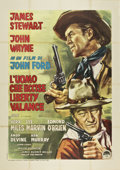 "Movie Posters:Western, The Man Who Shot Liberty Valance (Paramount, 1962). Italian 4 -Folio (55"" X 78"")...."