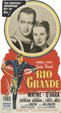 "Movie Posters:Western, Rio Grande (Republic, 1950). Standee (32.5"" X 59)...."