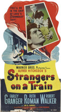 "Movie Posters:Hitchcock, Strangers on a Train (Warner Brothers, 1951). Standee (32"" X59"")...."