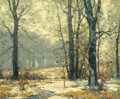 Fine Art - Painting, American:Modern  (1900 1949)  , JOHN FABIAN CARLSON (Swedish/American, 1874-1945). WinterMorning Mists. Oil on canvas. 25 x 30 inches (63.5 x 76.2cm)...