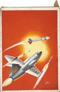 Original Comic Art:Covers, Allen Simon Classics Illustrated Special Edition#159A Rockets, Jets, and Missiles Painted...