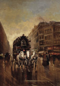 Paintings, EDOUARD-LÉON CORTÈS (French, 1882-1969). Paris Evening. Oil on canvas. 24 x 17 inches (61.0 x 43.2 cm). Signed lower rig...