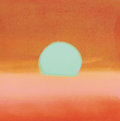 Fine Art - Painting, American:Contemporary   (1950 to present)  , ANDY WARHOL (American, 1928-1987). Sunset, 1972. Screenprinton paper. 34 x 34 inches (86.4 x 86.4 cm). Ed. 140/470. Sig...