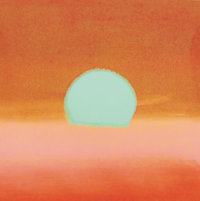 ANDY WARHOL (American, 1928-1987) Sunset, 1972 Screenprint on paper 34 x 34 inches (86.4 x 86.4 c