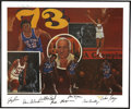 Basketball Collectibles:Others, 1973 New York Knicks Team Signed Lithograph....