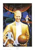 Basketball Collectibles:Others, Larry Bird Signed Lithograph. ...