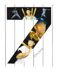 "Baseball Collectibles:Others, Mickey mantle Signed ""Yankee 7"" Lithograph...."
