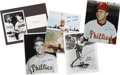 Autographs:Photos, Philadelphia Phillies and Pittsburgh Pirates Signed Photographs Lot of 30....