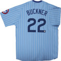 Baseball Collectibles:Uniforms, Bill Buckner Signed Throwback Jersey....