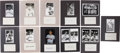 Autographs:Bats, Boston Red Sox Greats Signed Index Cards Lot of 78. ...
