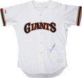 Autographs:Jerseys, Willie Mays Signed Jersey....