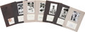 Autographs:Index Cards, St. Louis Browns and Cardinals Greats Signed Index Cards Lot of37....