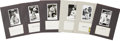 Autographs:Index Cards, Philadelphia Athletics and Pittsburgh Pirates Signed Index Cards Lot of 23....