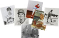 Autographs:Photos, Cleveland Indians and Cincinnati Reds Signed Photographs Lot of 32....