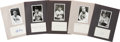 Autographs:Index Cards, New York Yankees Greats Signed Index Cards and Photographs Lot Of50....
