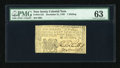 Colonial Notes:New Jersey, New Jersey December 31, 1763 1s PMG Choice Uncirculated 63....