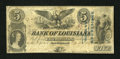 Obsoletes By State:Louisiana, New Orleans, LA- Bank of Louisiana $5 Apr. 5, 1860. ...