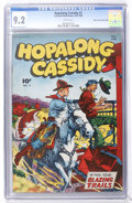 Golden Age (1938-1955):Western, Hopalong Cassidy #3 Mile High pedigree (Fawcett, 1946) CGC NM- 9.2White pages....